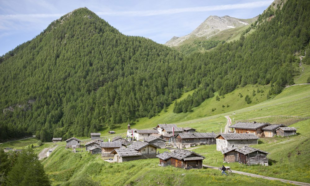 Mountain village of Fane Alm in all seasons