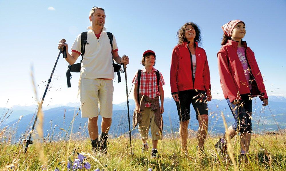 Un'estate in montagna con la famiglia